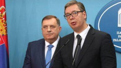 Photo of Dodik nakon sastanka sa Vučićem: Podržavamo nastavak misije EUFOR-a u BiH